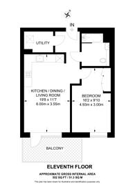 Large floorplan for Grand Union, Alperton, HA0