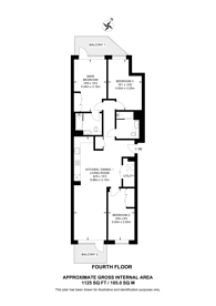 Large floorplan for Grand Union, Alperton, HA0