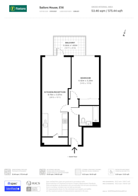 Large floorplan for Deauville Close, Canary Wharf, E14