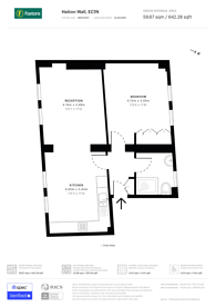 Large floorplan for Hatton Wall, Clerkenwell, EC1N