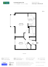 Large floorplan for St Davids Square, Isle Of Dogs, E14