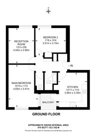 Large floorplan for Scrutton Close, Clapham Park, SW12