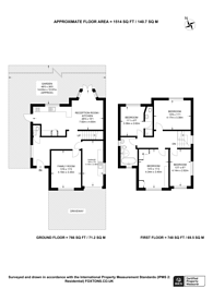 Large floorplan for Eversley Avenue, Wembley, HA9