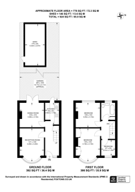 Large floorplan for Scorton Avenue, Perivale, UB6