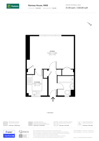 Large floorplan for Townshend Estate, St John's Wood, NW8