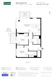 Large floorplan for Baltimore Wharf, Canary Wharf, E14