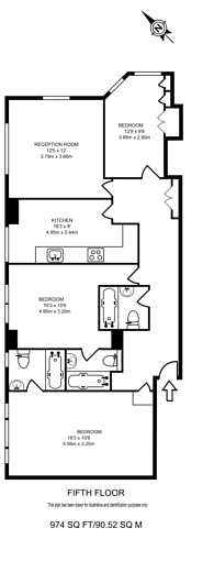 Large floorplan for Kendal Street, Hyde Park Estate, W2
