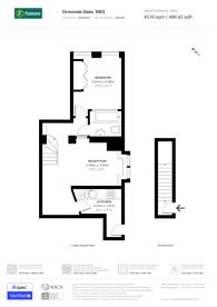 Large floorplan for Ormonde Gate, Chelsea, SW3