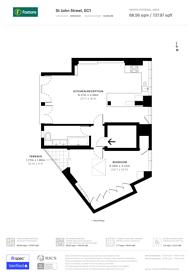 Large floorplan for St John Street, Clerkenwell, EC1M