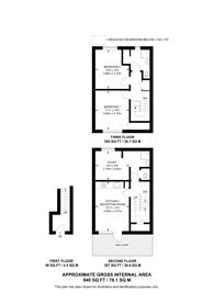 Large floorplan for Gillespie Road, Islington, N5