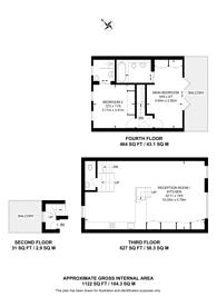 Large floorplan for Bolingbroke Road, Brook Green, W14