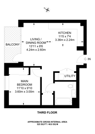 Large floorplan for Clarendon, Harringay, N8