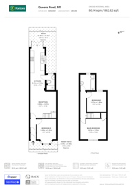 Large floorplan for Queens Road, Bounds Green, N11