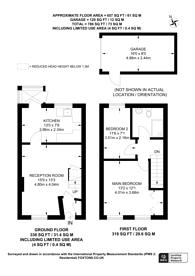 Large floorplan for Bowers Close, Burpham, GU4