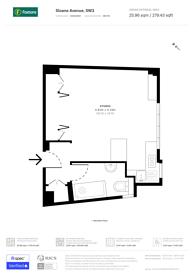 Large floorplan for Sloane Avenue, Sloane Square, SW3