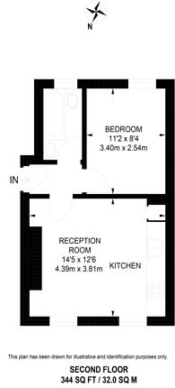 Large floorplan for Star Street, Hyde Park Estate, W2