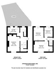 Large floorplan for Mellitus Street, Shepherd's Bush, W12