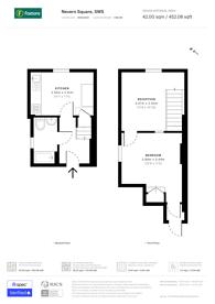 Large floorplan for Nevern Square, Kensington, SW5