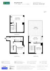 Large floorplan for Byng Street, Canary Wharf, E14