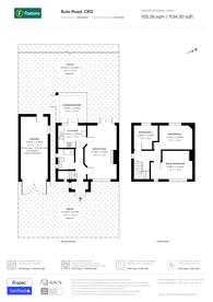Large floorplan for Bute Road, Croydon, CR0
