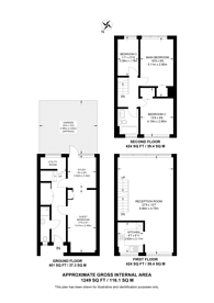 Large floorplan for The knoll, Ealing Broadway, W13