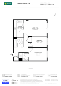 Large floorplan for Newport Avenue, Docklands, E14