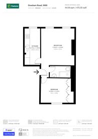 Large floorplan for Gresham Road, Brixton, SW9
