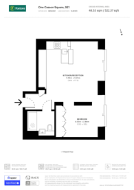 Large floorplan for One Casson Square, South Bank, SE1