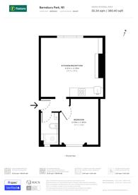 Large floorplan for Barnsbury Park, Barnsbury, N1