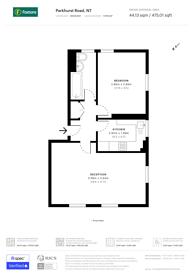 Large floorplan for Parkhurst Road, Islington, N7