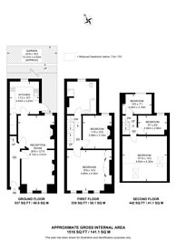 Large floorplan for Welham Road, Furzedown, SW16