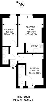 Large floorplan for Ladbroke Grove, Ladbroke Grove, W10