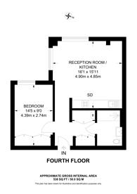 Large floorplan for Chancery Lane, Holborn, WC2A