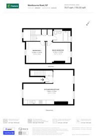 Large floorplan for Westbourne Road, Islington, N7
