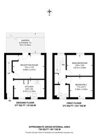 Large floorplan for Crane Street, Peckham, SE15