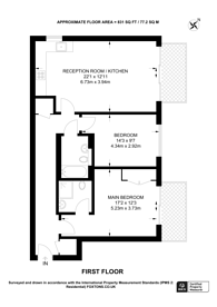 Large floorplan for Granville Road, Golders Green, NW2