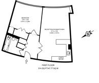 Large floorplan for Parliament View Apartments, Waterloo, SE1