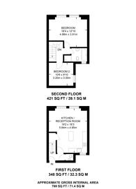Large floorplan for Ostade Road, Brixton, SW2