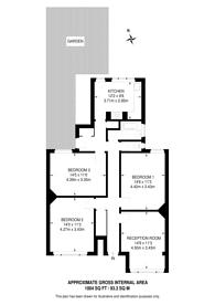 Large floorplan for Atkins Road, Clapham Park, SW12