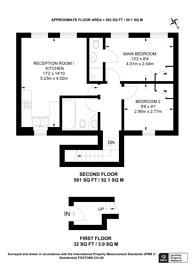 Large floorplan for Clarence Place, Clapton, E5
