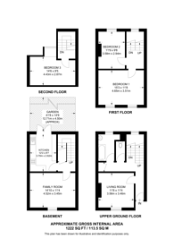 Large floorplan for Evandale Road, Brixton, SW9
