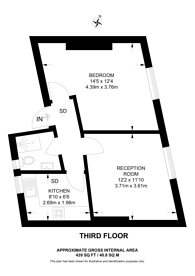 Large floorplan for Bow street, Covent Garden, WC2E