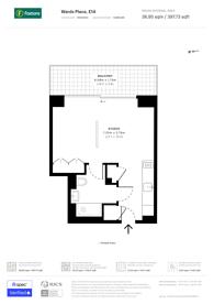 Large floorplan for Wardian London, Canary Wharf, E14