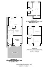 Large floorplan for St Augustines Avenue, Ealing, W5