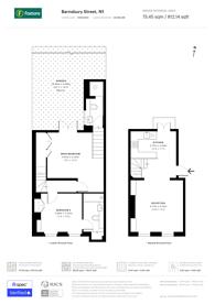 Large floorplan for Barnsbury Street, Islington, N1