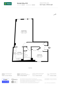 Large floorplan for Botolph Alley, City, EC3R