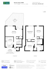 Large floorplan for Nursery Close, Putney, SW15