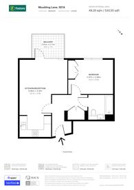 Large floorplan for Fusion Apartments, Deptford, SE14