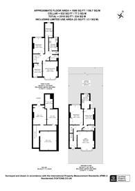 Large floorplan for Dukes Avenue, New Malden, KT3