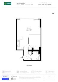 Large floorplan for Landmark Square, Canary Wharf, E14